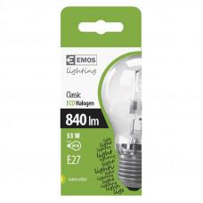 Emos ZE0704 ECO Halogén Classic izzó E27 53W Meleg-fehér C
