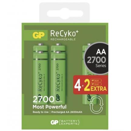 GP ReCyko+ 2700 akkumulátor AA 4+2db GPRHC272C266