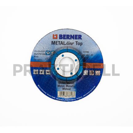 Berner Metal Vágókorong 115x2,0x22,23mm