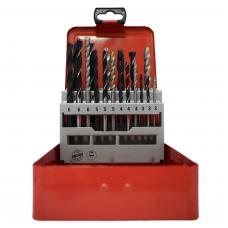 Abraboro Master-Mix Fém-, fa- és kőzetfúró készlet 18 részes 3,0-10mm fémdobozban