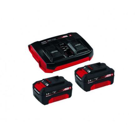 Einhell 2x3,0Ah Twincharger Kit Akku és töltő szett (4512083)