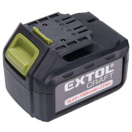 Extol 402420E tartalék akkumulátor Li-ion töltőhöz, 3 SARU, 16,6V, 1500MAH